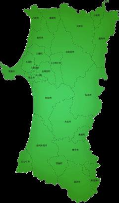 秋田県の施工対応地域