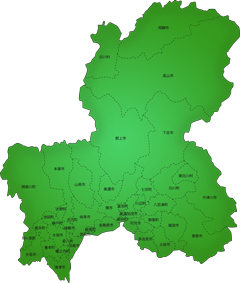 岐阜県の施工対応地域