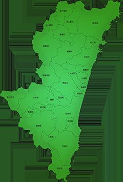 宮崎県の施工対応地域