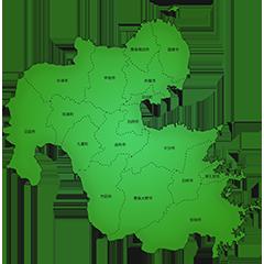 大分県の施工対応地域