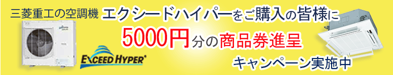 エアフレックス・エクシードハイパー 5000円商品券キャンペーン