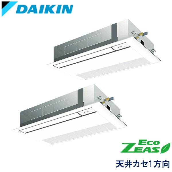 SZRK80BFNTD ダイキン ECO ZEAS 業務用エアコン 天井カセット形1方向 ツイン 3馬力 三相200V ワイヤレスリモコン 標準パネル