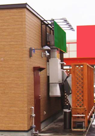外気処理温風機 某飲食店厨房