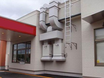 外気処理温風機 某飲食店二段連結